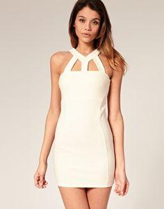 ASOS Body-Conscious Dress with Cut Out Neck at ASOS - $18.18