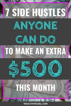 Making extra money from home has never been easier! Check out these 7 side hustle business ideas that ACTUALLY WORK to make money on the side so you can become debt free and achieve financial freedom! - Earn Money at home Make Money Online Now, Earn Money From Home, Make Money Fast, Make Money Blogging, Money Tips, Money Saving Tips, Start A Business From Home, Online Business, Hustle Money