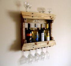 Reclaimed Wood Wine Rack Pallet Wood Wine Rack Shelf Eco Friendly $60