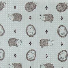 Cotton aqua w hedgehog Aqua, Forest Friends, Hedgehog, Bomull, Disney, Cotton, Fabrics, Caravan, Shop