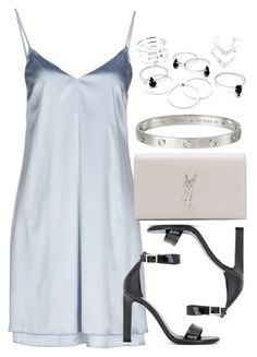 """""""Style #10705"""" by vany-alvarado ❤ liked on Polyvore featuring Carla G., Yves Saint Laurent and Cartier"""
