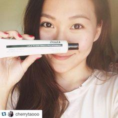 Thank you Cherry~! ❤️ #Repost ・・・ #MOTD (makeup of today)  Foundation: #Klairs @wishtrendwholesale  Brow: #cybercolor  Blush: #Chanelbeauty