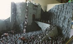 Epic Lego Helms Deep crafted from 150,000 bricks