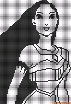 Disney princess Pocahontas perler bead pattern
