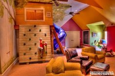 If I am rich and live in a mansion, my kids are getting a playroom like this!