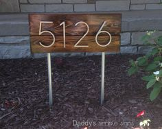 Mid century modern address sign by DaddysSimpleSigns on Etsy