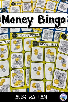 Do your students enjoy the game of Bingo? This Australian resource will have them counting up amounts of coins to $1, $2 and $5 and then having fun with a game of Bingo. Bingo Board, Board Games, Money Bingo, Primary School Curriculum, Australian Money, Counting Coins, Math Rotations, Threes Game, My Values
