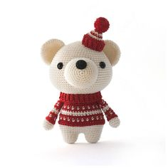 Pjotr the Polar Bear Amigurumi crochet pattern
