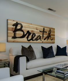 DIY inspiration-'Breath' Wood Wall Artl