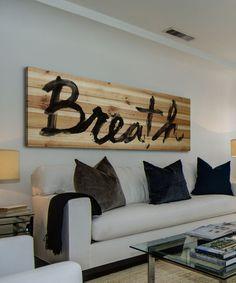 DIY inspiration-'Breath' Wood Wall Artl