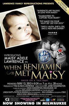 Custom baby girl birth announcement. #baby_announcement #newborn #baby #girl