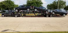 GN500 Shepard -  5 car hauler trailer is designed to haul 5 cars or 4 trucks.  This 50'ft trailer comes with a Box Tongue designed for Chassis Cab trucks and allows easy loading and unloading with a drive over belly deck.   Comes standard with hydraulic ramps and tandem duals.