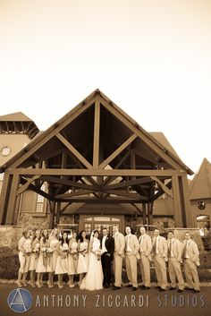 Cheryl and Joe with their bridal party at Crystal Springs.  #crystalsprings #wedding #mrandmrs #justmarried #weddingday #happycouple #aziccardi #anthonyziccardistudios