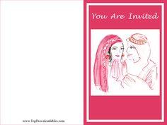 Free Printable #Arabic #Wedding #Invitation