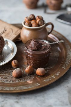 Homemade nutella recipe only 3 ingredients. Food photography by Candy Company Homemade Nutella Recipes, Candy Companies, 3 Ingredients, Brown And Grey, Food Photography, Gluten Free, Chocolate, Aesthetics, Celestial