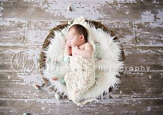 Love the distressed wood backdrop and adorable basket :)