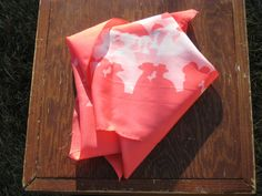 Scarf Vintage Pink Umbrellas by BookishKind on Etsy, $7.00