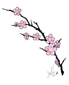 cherry blossom tattoo drawings - Google Search