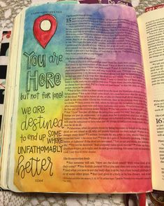 """Nicki Verbil on Instagram: """"I've been house sitting for about a week now, so I've been pretty limited with the bible journaling supplies I've had on hand. I did bring my watercolors though, and today I played the """"How many colors can Nicki put on a page?"""" game that I just love so much  Blending my colors was a lot harder than I'm used to, because all I have with me is a medium sized Pentel Aquabrush, but you know, it got the job done for the most part!!"""