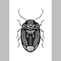 Beetle bug folk art design. Botanical beetle hand drawn illustration. The inspiration for this work came from a love of folk art & vintage botanical book plates. The perfect gift for a lover of entomology or something a bit gothic!  This is an open edition print. The design is printed on heavyweight 350gsm matte board.  The print size is A5 (8.2 x 6 inches). It will fit perfectly in an off-the-shelf standard A5 frame.  The design is wrapped in cellophane and backed with thick card. It wil...