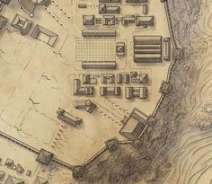 Desaturating shadows helps to sell the form of three dimensional maps Fantasy City Map, Fantasy Town, Cartographers Guild, Map Compass, A Little Life, Secrets Of The Universe, Fantasy Fiction, Fantasy Illustration, Map Design