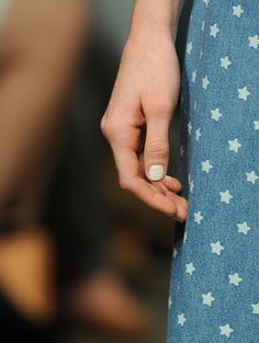Seeing stars with Studio White nails. Karen Walker Spring 2013 Collection  #nyfw