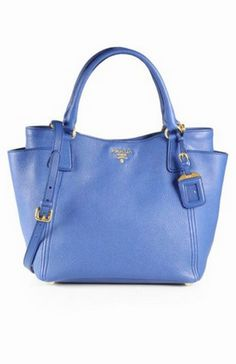 You'll never have the blues with this beauty. - Prada Daino Convertible Side Pocket Hobo ($1,450.00)