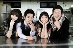 "Alex Chu and Lee Sun Gyun (with Honey Lee and Gong Hyo Jin) in ""Pasta"""