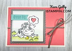 Over the Moon Card Over The Moon, Funny Puns, Card Envelopes, Paper Pumpkin, Ink Pads, Dream Big, Note Cards, Stampin Up