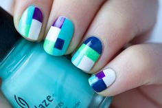 color block nails by Funnyfacects