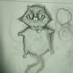 #cat #gato #illustration #ilustracion #animal #sketch #boceto #dibujo #draw #drawing #mikelota