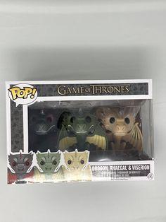 Brand New Funko Pop, Game of Thrones Drogon, Rhaegal & Viserion 3 pack from HBO Game Of Thrones Joffrey, Game Of Thrones Figures, Game Of Thrones Jaime, Funko Game Of Thrones, Game Of Thrones Dragons, Pop Game Of Thrones, Game Of Thrones Funny, Mini Funko Pop, Best Funko Pop