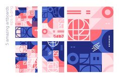 by lisa_kalev on This collection of 'new view' on retro geometry shapes patterns. Included seamless patterns, 40 blocks and amazing artboards. Geometric Logo, Geometric Designs, Geometric Shapes, Web Design, Shape Design, Packaging Design, Branding Design, Product Packaging, Conference Branding