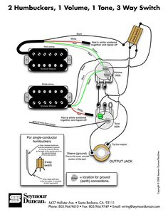 Seymour    Duncan    PRails    wiring       diagram     2 PRails  1 Vol