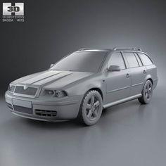 Skoda Octavia Tour Combi 2000 3d model