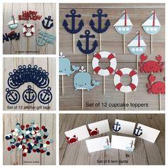 Nautical Cupcake, Nautical Baby, Nautical Theme, First Birthday Themes, 1st Boy Birthday, Boy Birthday Parties, Birthday Decorations, First Birthdays, Manualidades