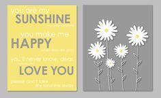 Yellow and Gray Bathroom Art Bathroom Decor Yellow and Grey Nursery Prints You Are by karimachal, $13.00