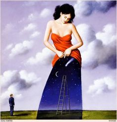 Rafal Olbinski this is one of my favorite pieces, I've been in love with it since my sister had a Rafal Oblinski calender