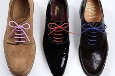 Coloured laces for your grown-up shoes.