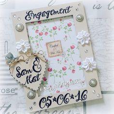 #handwritten #calligraphy #personalisedphotoframe #engagmentgift #wedding #keepsake  Www.facebook.com/CraftedWithKim