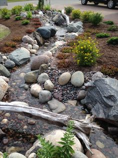 Check out this crucial image and also browse through the here and now related information on Front Landscaping Ideas Backyard Stream, Garden Stream, Backyard Water Feature, Ponds Backyard, Backyard Waterfalls, Garden Ponds, Small Front Yard Landscaping, Pond Landscaping, Landscaping With Rocks