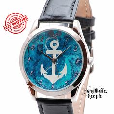 Watch for Men and Women  Anchor Mens Watch Women by HandMadePeople
