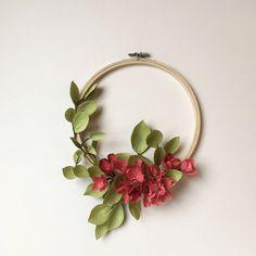 Paper Flower Wreath - Indoor Wreath - All Year Wreath - Crepe paper flowers - Handmade Gift