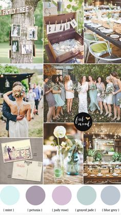 blue grey,petunia,grayed jade vintage wedding and rustic outdoor wedding | fabmood.com