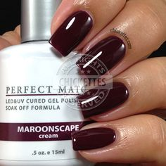 Burgundy nails for the fall