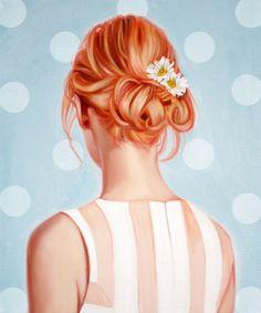 Giclee Art Print of Original Oil Painting, Woman Figure Fashion, Various Sizes Pink Hair Flowers, Vogue Pop Portrait Figurative Illustration Pop Art Portraits, Portrait Art, Artist Painting, Figure Painting, Hair Painting, Acrylic Paintings, Art Paintings, Pop Art Girl, Fashion Painting
