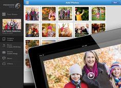 Make a photo + video slideshow on your iPad.