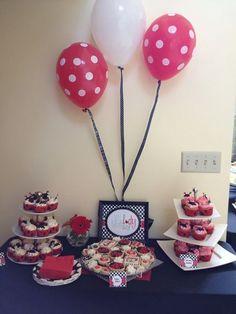 ladybug balloons & cupcakes