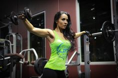 @strongliftwear Ladies Crest Series Racerback - Neon Green #gym #exercise  www.strongliftwear.com