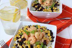 Cauliflower Rice Bowl with Shrimp